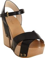 Chloé Wooden Wedge Sandal