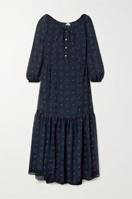 Paul & Joe Chaland Floral-print Jacquard Maxi Dress - Midnight blue