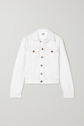 Citizens of Humanity Net Sustain Nica Distressed Denim Jacket - White