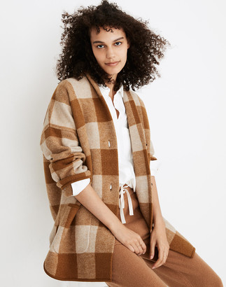 Madewell Buffalo Check Sweater Coat