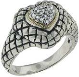 Effy Jewelry Balissima Sterling Silver & Gold Diamond Heart Ring