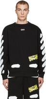 Off-White Black Diagonal Spray Pullover