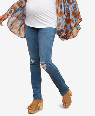 Motherhood Maternity Petite Straight-Leg Jeans