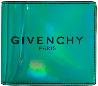Givenchy Green Iridescent Bifold Wallet