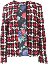 MSGM Plaid Floral Stripe Jacket