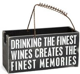 PRIMITIVES BY KATHY 'Finest Memories' Wine Caddy