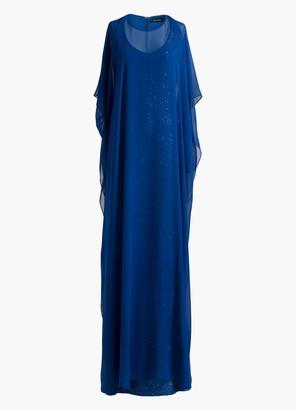 St. John Silk Georgette Overlay Gown