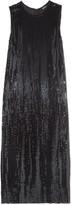 DKNY Sequined stretch-silk midi dress