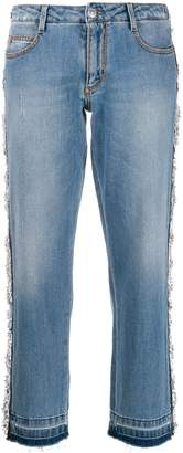 Ermanno Scervino lace trim cropped jeans