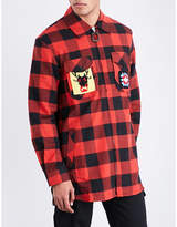 J.W.Anderson Lumberjack-patch flannel shirt