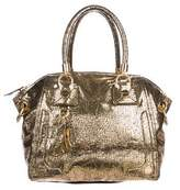 Milly Embossed Leather Satchel