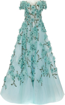 Marchesa Off The Shoulder Tulle Ball Gown