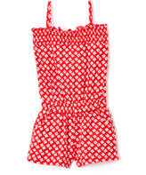 Sweet & Soft Red & White Floral Knit Romper - Infant & Toddler