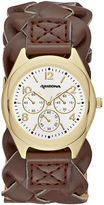 Arizona Womens Brown Strap Watch-Fmdarz140
