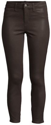 L'Agence Margot High-Rise Ankle Coated Skinny Jeans