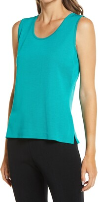 Ming Wang Scoop Neck Knit Tank