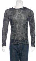 Gianni Versace Printed Long Sleeve T-Shirt