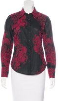 Robert Graham Floral Embroidered Long Sleeve Top