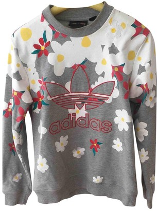 Pharrell Adidas X Williams Grey Cotton Top for Women