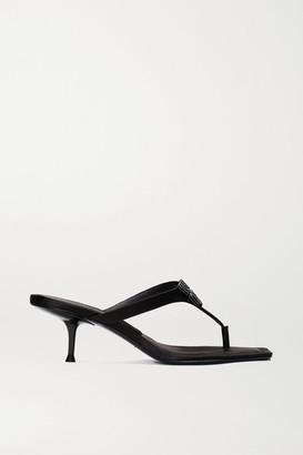Alexander Wang Bianca Embellished Satin Sandals - Black