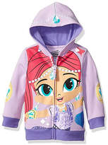 Asstd National Brand Nickelodeon Shine and Shimmer Toddler Girls Shimmer Costume Hoodie with Purple Glitter