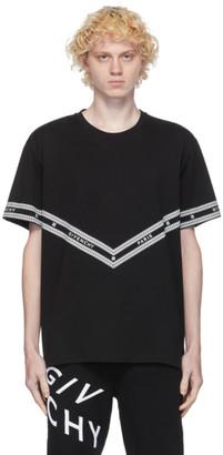 Givenchy Black Logo Chain T-Shirt
