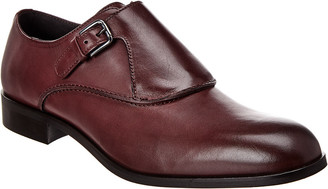 Donald J Pliner Micro Leather Monk Strap