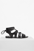French Connection Aurora Lace Up Leather Gladiator Sandals