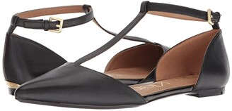 Calvin Klein Ghita Flat (Black) Women's Dress Flat Shoes