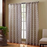 Sedona Rod Pocket Sheer Window Curtain Panel in Taupe