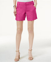 INC International Concepts Linen-Blend Scalloped Shorts, Only at Macy's