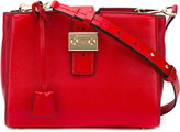 MICHAEL Michael Kors padlock square shoulder bag - women - Leather - One Size