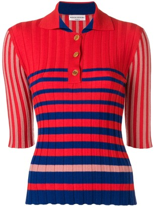 Sonia Rykiel Striped Polo Jumper