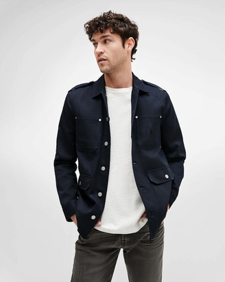 7 For All Mankind A Pocket Field Jacket in Navy