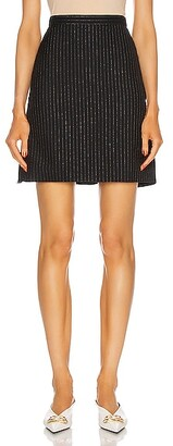Alexander McQueen Stripe Mini Skirt in Blue,Stripes