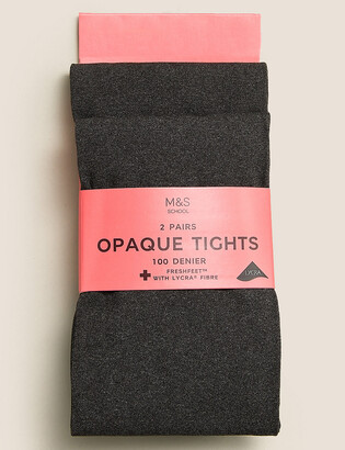 Marks and Spencer 2pk of 100 Denier Tights (6-14 Yrs)