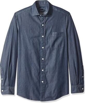 Buttoned Down Men's Classic Fit Indigo Denim Cotton Sport Shirt