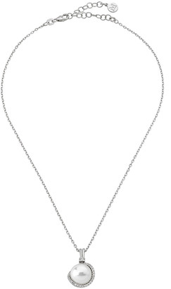 Majorica 12mm Pearl & Cubic Zirconia Pendant Necklace