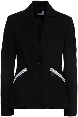 Love Moschino Stretch-cotton Pique Blazer