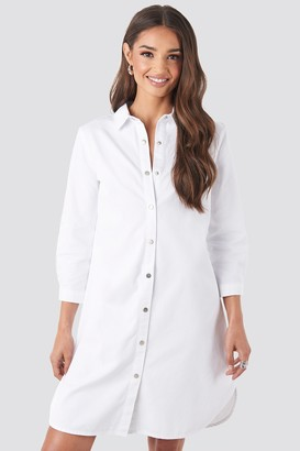 NA-KD 3/4 Length Sleeve Denim Shirt Dress