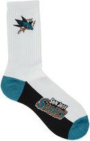 For Bare Feet San Jose Sharks Crew White 506 Socks