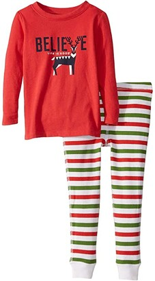 Life is Good Believe Sleep Set (Toddler) (Americana Red) Kid's Pajama Sets