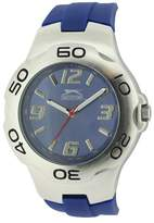 Slazenger Men's Quartz Watch with Blue Dial Analogue Display and Blue Silicone Strap SLZ122/C