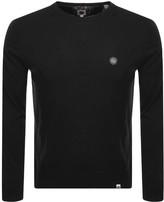 Pretty Green Mitchell Long Sleeved T Shirt Black