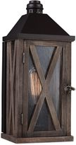 Feiss Lumiere Wall-Mount Outdoor Lantern in Weathered Oak/Oil-Rubbed Bronze