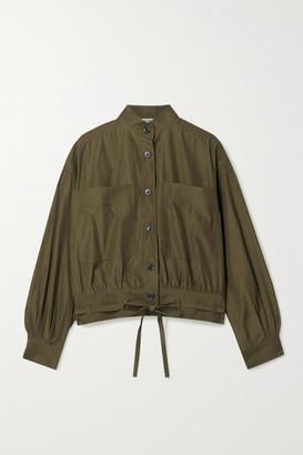 Jason Wu Tie-detailed Woven Shirt - Army green