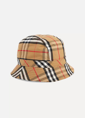 Burberry Checked Cotton-canvas Bucket Hat - Camel