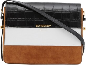 Burberry Large Grace Mixed Leather Shoulder Bag