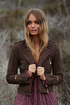 Doma Womens SUEDE MOTO JACKET
