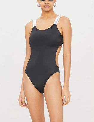 Calvin Klein Scoop-neck one-piece swimsuit